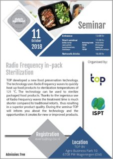Radio-Frequency Sterilization seminar at TOP bv